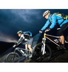 Lanterna led reincarcabila bicicleta SEO B5R Blue 180 lumeni