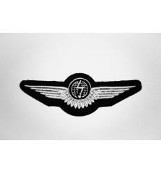 Emblema aviator gri 12x4 cm