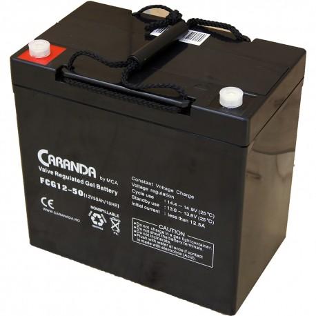 Baterie Caranda cu gel 50Ah 12V