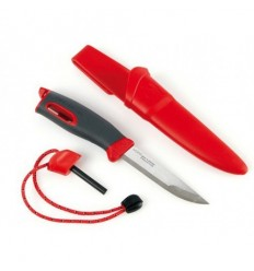 Cutite supravietuire Light My Fire FireKnife red si amnar