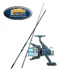 Kit de pescuit crap Lineaeffe Lanseta Carp Beater 3.60m 2buc. + Mulineta Vigor Carp