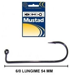 Carlig Mustad Heavy Wire negru nickel pentru jig 6/0 100 buc/set