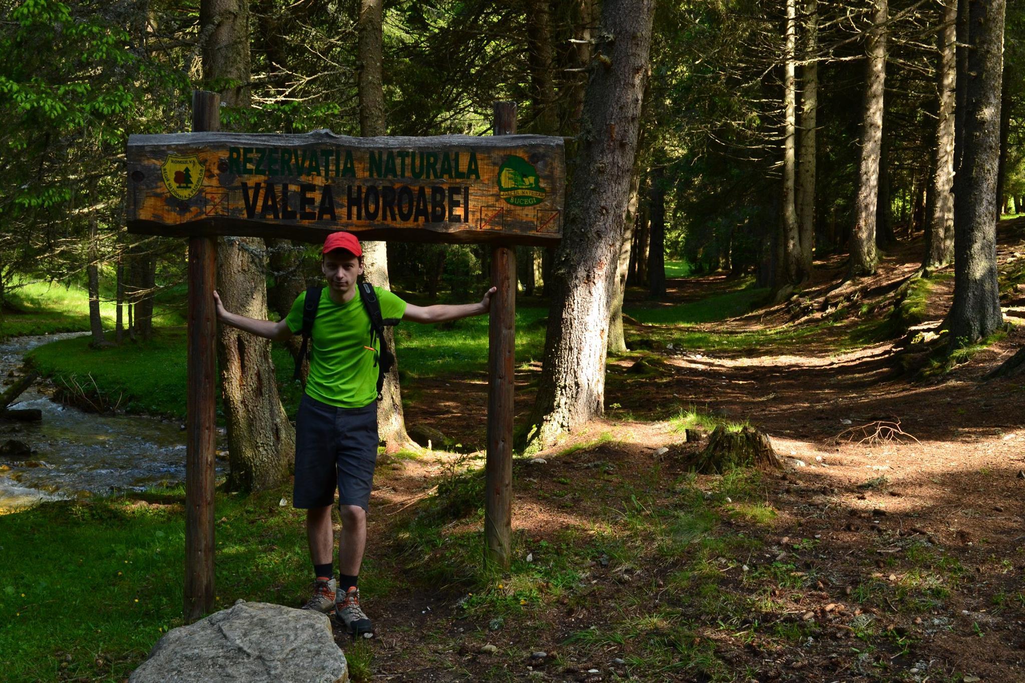 punctul de plecare pe traseul Valea Horoabelor