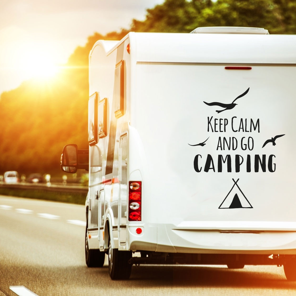 keep calm and go camping - rulota