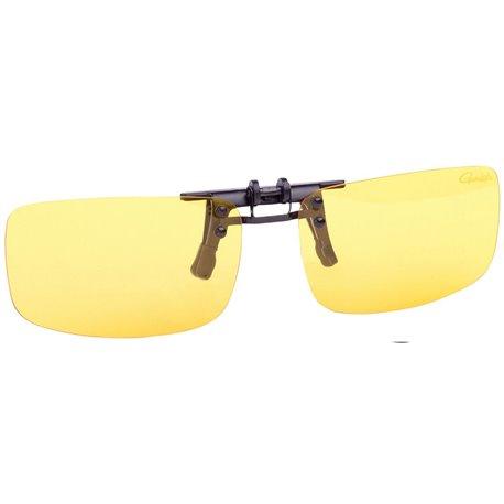 Ochelari de soare polarizati clip on Gamakatsu galbeni cu toc