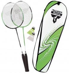 Set badminton 2 rachete Attacker cu husa