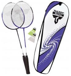 Set badminton 2 rachete Fighter cu husa