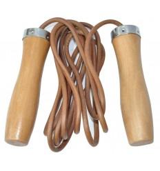 Coarda de sarit din piele manere lemn 275 cm