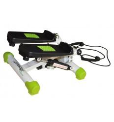 Stepper cu Corzi Fit Pedale Antilunecare Reglabil Verde 40x31x17