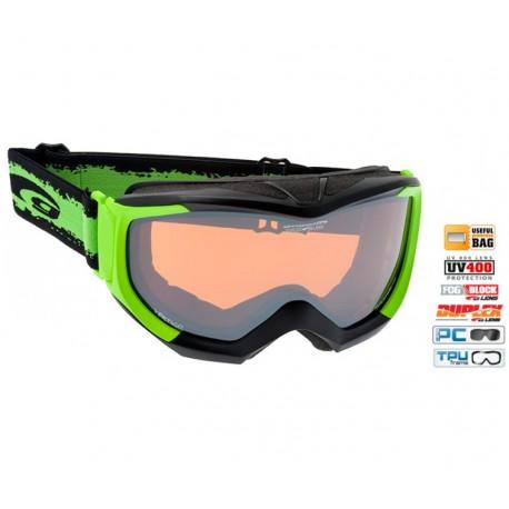 Ochelari ski Goggle H540-3 rama verde si lentile portocalii