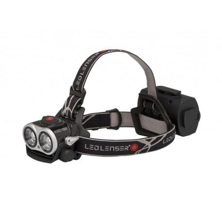 Lanterna Led Lenser reincarcabila de cap neagra XEO 19R 2000 lumeni cu incarcator si husa
