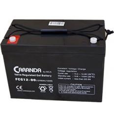 Acumulator Gel Caranda 90Ah - 12V pentru motoare electrice barca