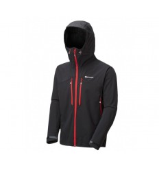 Jacheta softshell barbati Montane Sabretooth Black - Alpin red