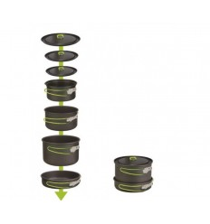 Set vase camping neaderente 4-6 persoane Pinguin Rover L