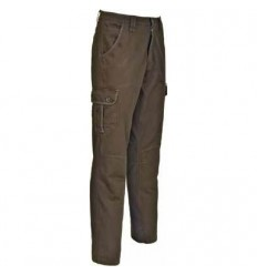 Pantaloni bumbac Treesco Idaho Scottish maro