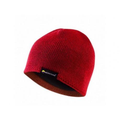 Caciula din lana merino Montane Resolute Alpine Red