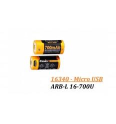 Acumulator cu Micro-USB Fenix 16340 - 700mAh - ARB-L 16-700U