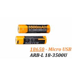 Acumulator cu Micro-USB Fenix 18650 - 3500mAh - ARB-L 18-3500U
