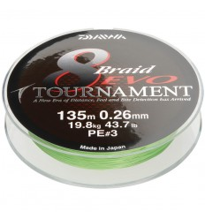 Fir textil Daiwa Tournament X8 Evo Chartreuse 010MM -6,7KG - 135M