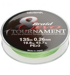 Fir textil Daiwa Tournament X8 Evo Chartreuse 020MM - 18,0KG - 135M