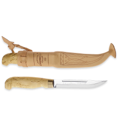 Cutit Marttiini Lynx 138, lama inoxidabila 13 cm, teaca piele