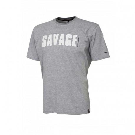 Tricou bumbac barbati Savage Gear light gri