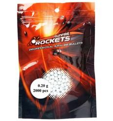 Bile airsoft 1000 buc Rockets, calibru 6 mm, greutate 0.20 g per bila