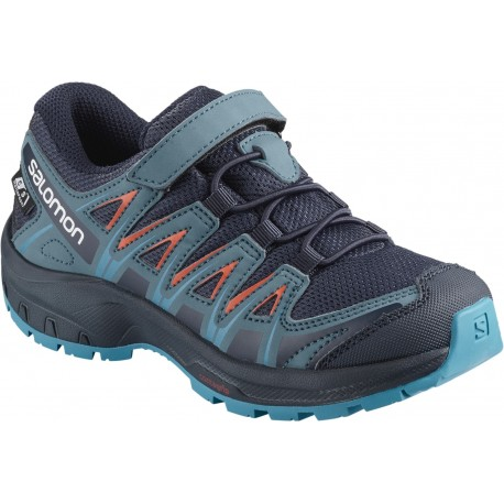 Pantofi Alergare Salomon Xa Pro 3D ClimaSalomon Waterproof Copii Albastru