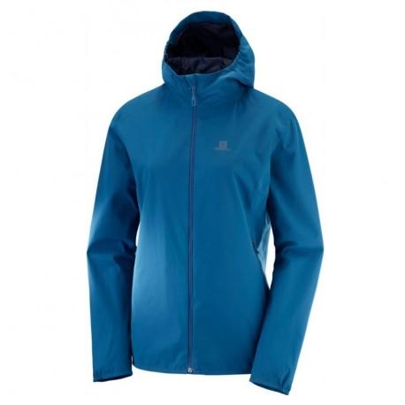 Geaca Drumetie impermeabila Salomon Essential Jacket Femei 10k - 10k Albastru