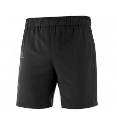Pantaloni Alergare Salomon Agile 2In1 Short Barbati Negru