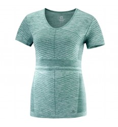 Bluza Alergare Salomon Elevate Move'On Ss Tee Femei Bleu