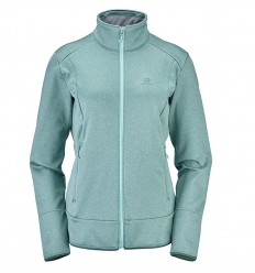 Fleece Salomon Discovery Fz Femei Verde