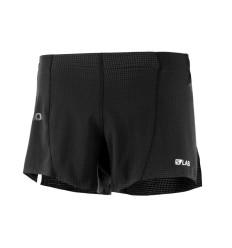 Pantaloni Alergare Salomon S/Lab Short 4 Barbati Negru
