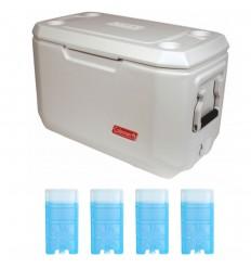 Set lada frigorifica Coleman Xtreme Marine 66 litri cu 4 pastile racire M10