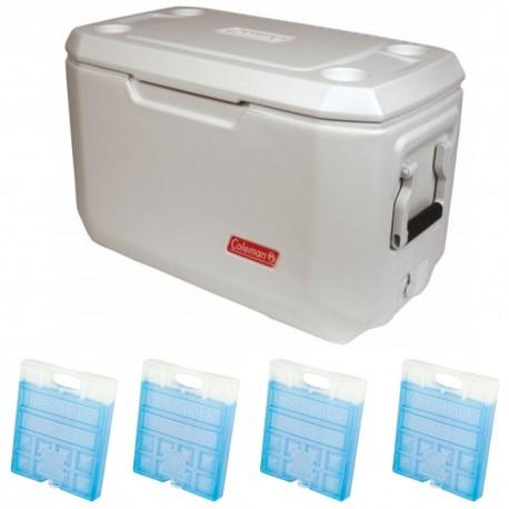 Set lada frigorifica Coleman Xtreme Marine 66 litri cu 4 pastile racire M20
