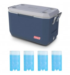 Set lada frigorifica 66 litri Coleman Xtreme albastra, cu 4 pastile M10