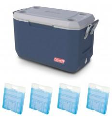 Set lada frigorifica 66 litri Coleman Xtreme albastra, cu 4 pastile M20