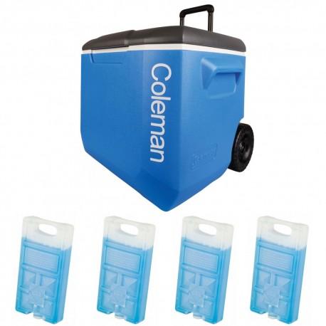 Set lada frigorifica cu roti Coleman 56 litri cu 4 pastile de racire M10