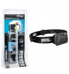Set spray urs autoaparare Umarex Bear Defender 225 ml, husa curea si lanterna Petzl Tikkina 150 lumeni