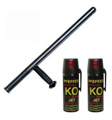 Tonfa polipropilena 58 cm cu 2 spray-uri piper jet 50 ml KO