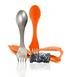 Set 2 tacamuri camping cu suport Light My Fire Ultimate Spork Kit, 50 grame