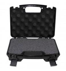 Cutie transport pistol, cu maner, captusita cu burete, 25 x 14 x 7 cm, 410 grame