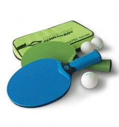 Set 2 palete tenis de masa, 3 mingi si husa Donic Alltec Hobby