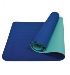 Saltea pentru yoga bicolora albastru/verde Schildkrot