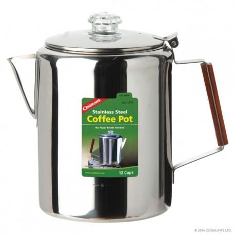 Cafetiera inoxidabila cu filtru de percolare Coghlans - 12 cani