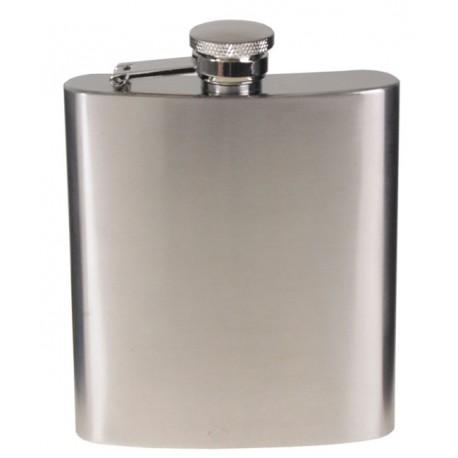 Butelca inoxidabila cu capac, volum 225 ml, argintie