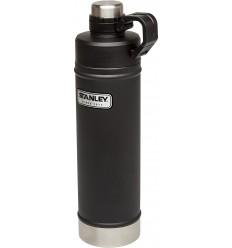 Bidon 0.75 litri inoxidabil Stanley, negru