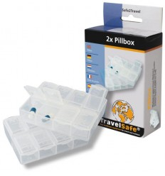 Cutie medicamente Travelsafe Pillbox TS0360, set 2 buc
