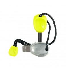 Amnar magneziu cu fluier Light My Fire Scout verde fluorescent, 7,7 cm, 29 grame