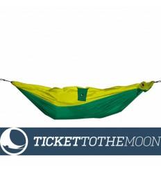 Hamac pentru copii Ticket To The Moon Mini Green-Yellow, 150 × 100 cm, 200 grame